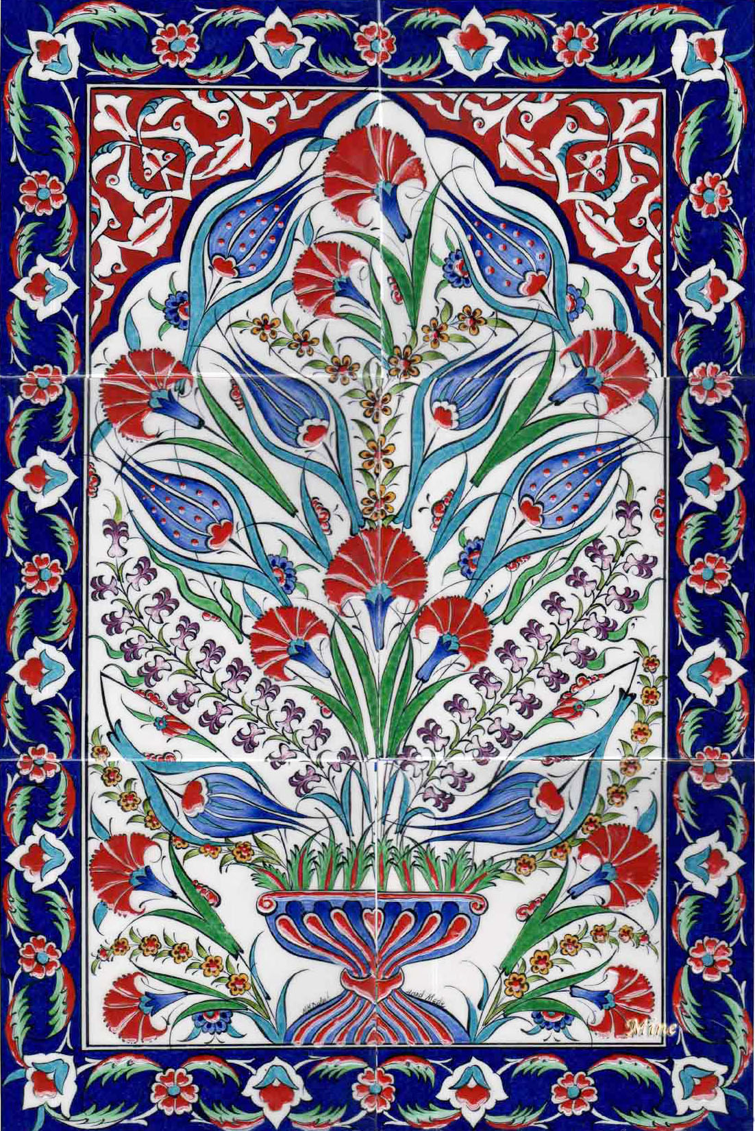 Ottoman Traditional Turkish Tiles Art Osmanlı 199 Ini Karo