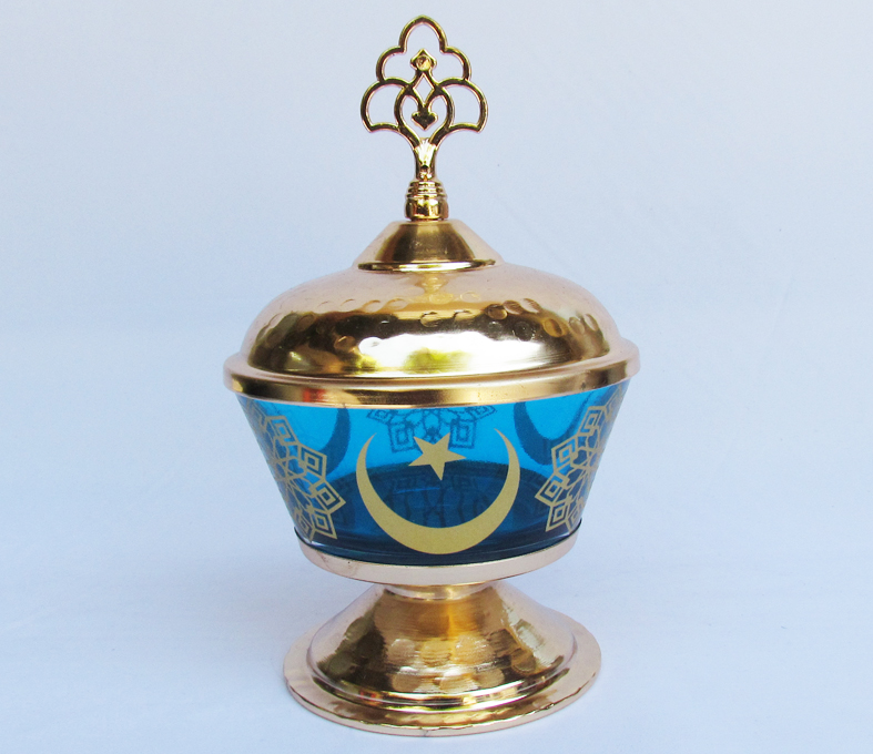 TR301650-13 Mavi Hilal Ay  Yıldızlı  Hediyelik Şekerlikler Hediyelikler. İstanbul a õzgü yöresel kültürel hediye