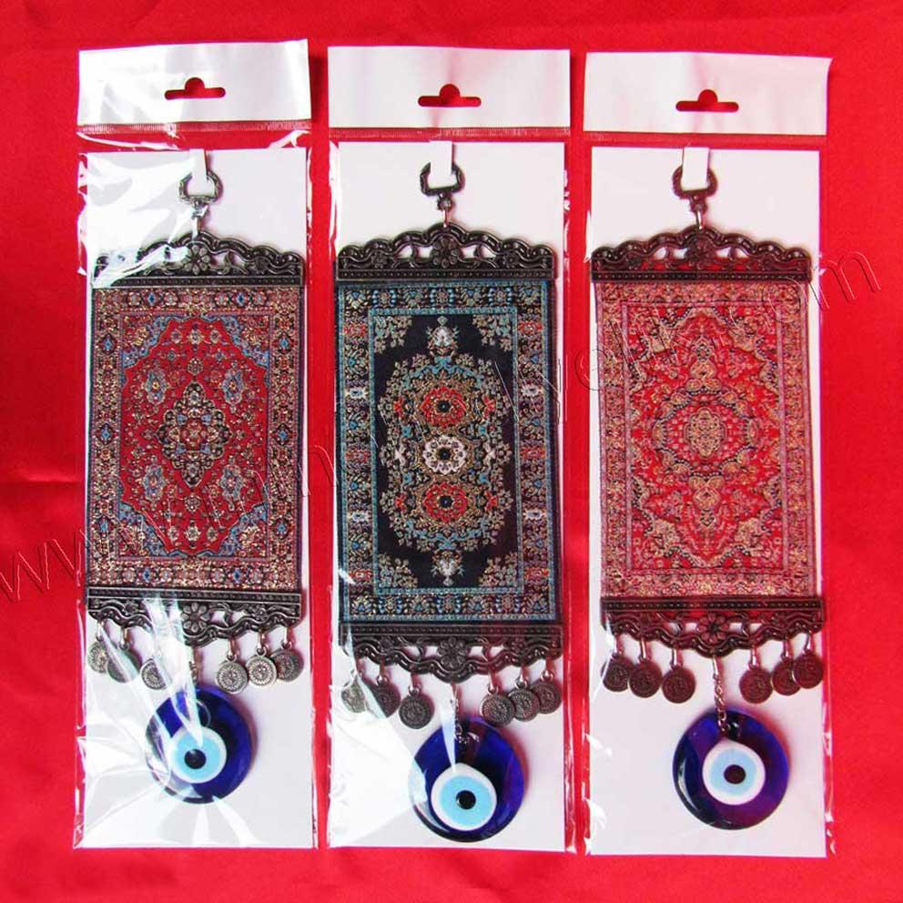 5cm Minyatür Halılar Paketli Nazarlıklı cam nazar boncuğu