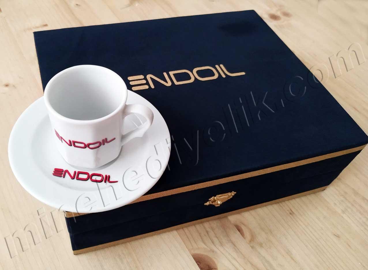 Kurumsal Hediyelik  Logolu Kahve Fincan  Takımları İmalatçı Fiyatları Altılı