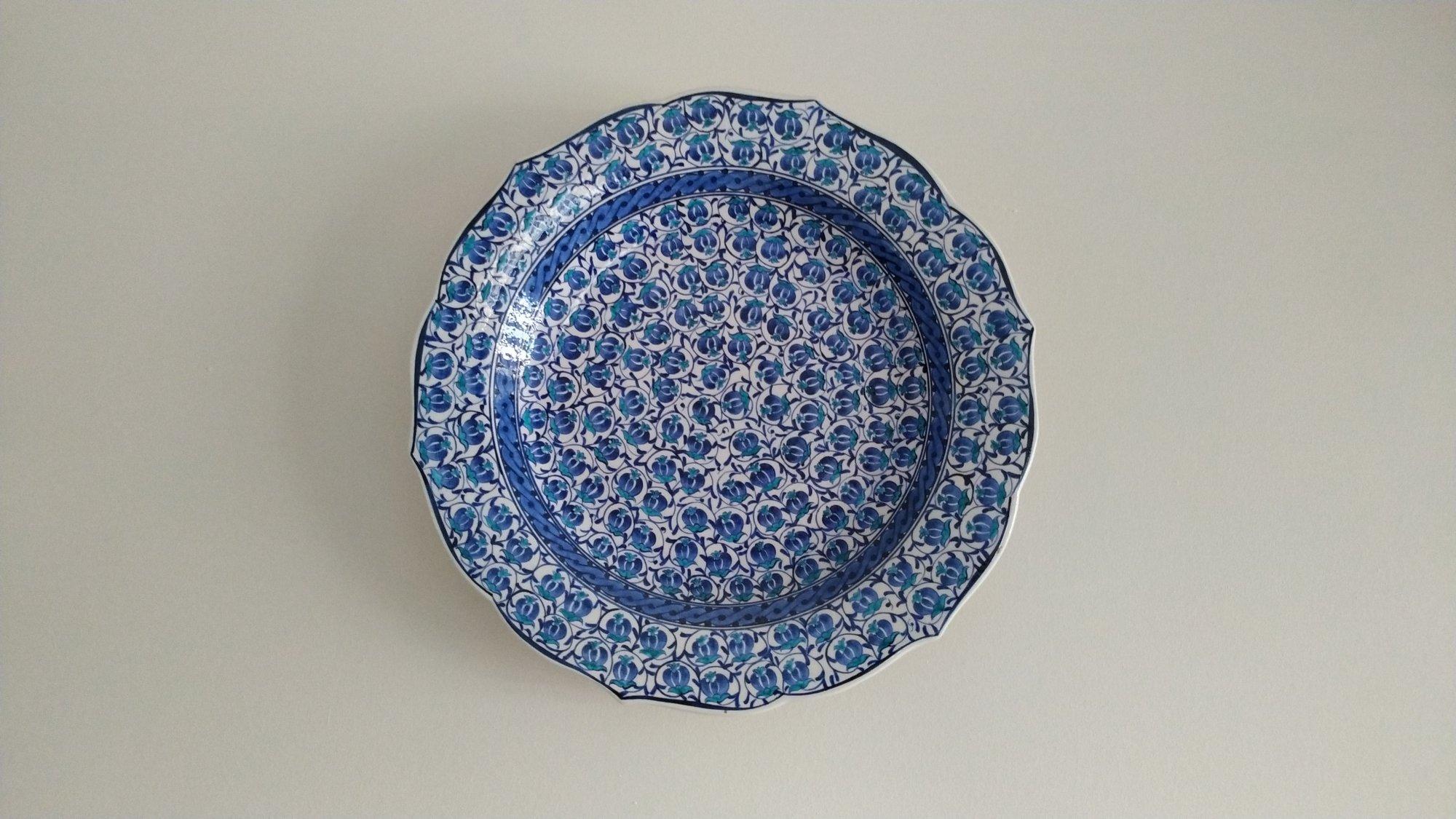 Mavi Beyaz Çini Tabaklar