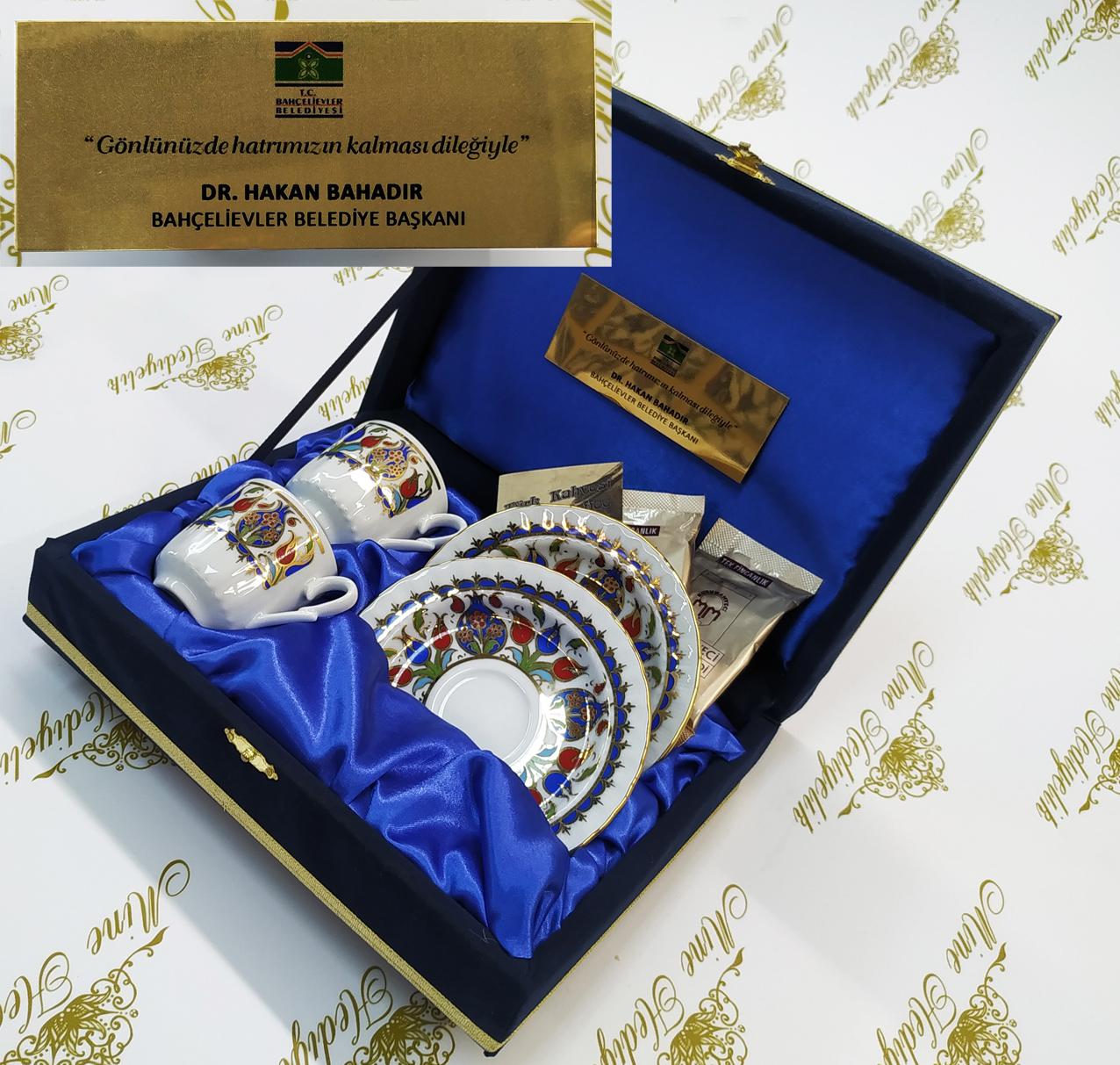Nikah törenleri için kahve hediyeli kaliteli fincan setleri Bahçelievler Belediyesi hediyelik promosyon amaçlı kullanıma yönelik baskılı hediyelik eşyalar