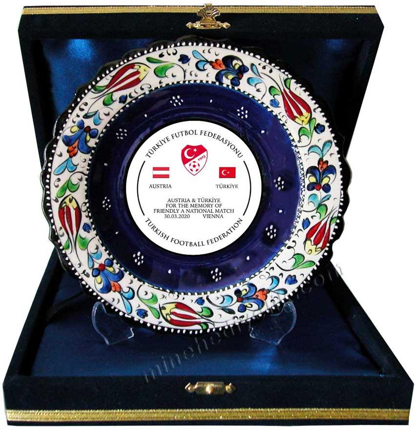 18cm Çini Tabak Plaketler kültürel hediye mağazası Mine hediyelikte