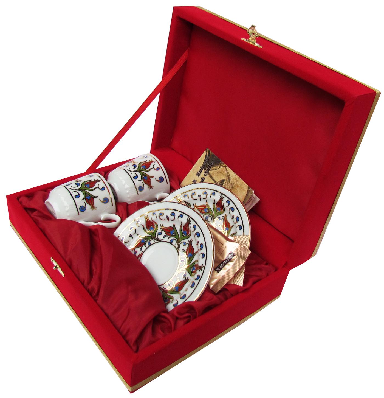 Kırmızı Kutulu İkili Kahve Fincan Setleri Türkiye anısı hatıralar kurumsal promosyon amaçlı çiftli kahve fincan seti