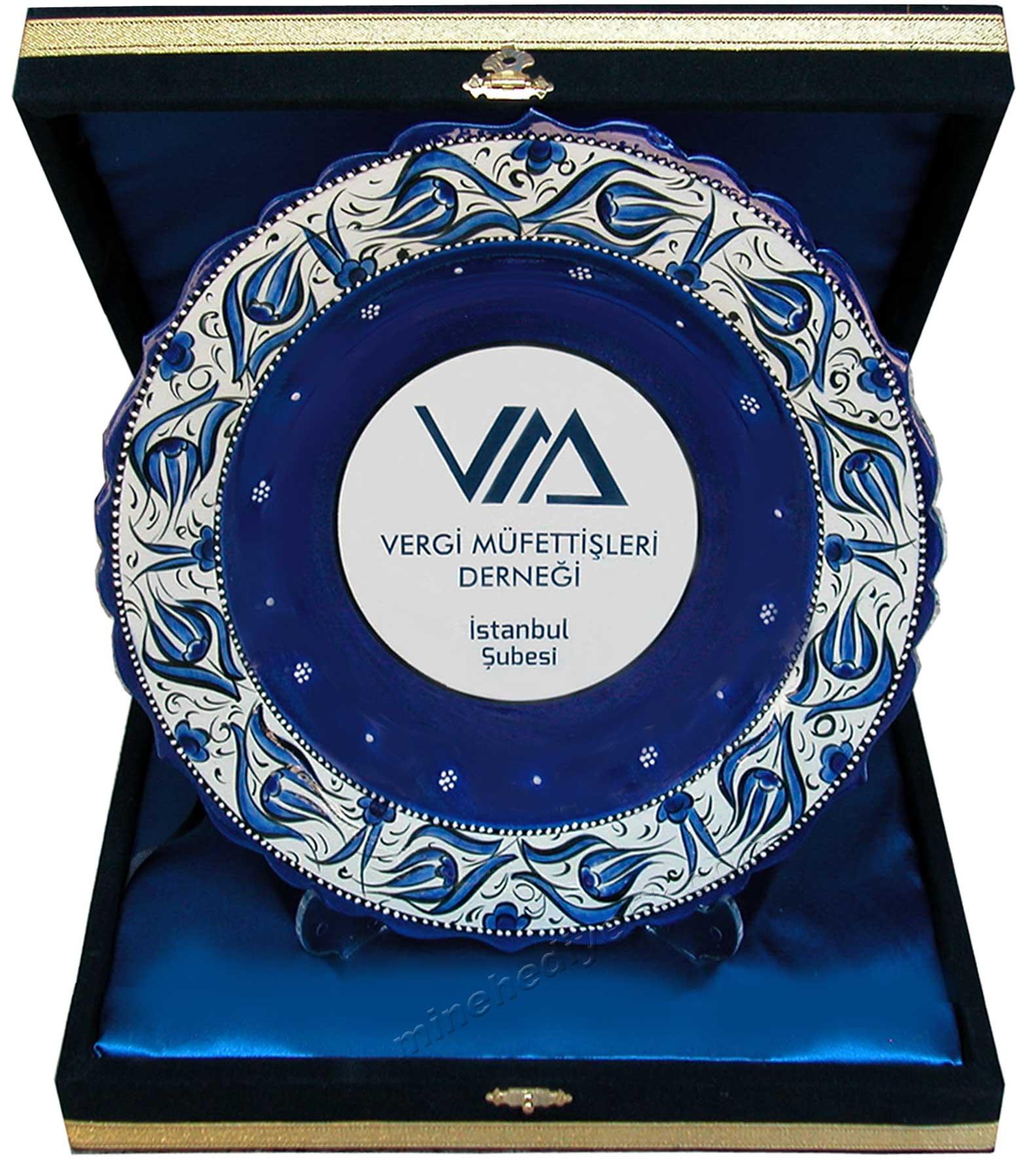 Kaliteli promosyon hediyeler kurumsal logo baskılı kutulu el yapımı çini tabak protokol hediyeleri Türkiye yi hatırlatan ve temsil eden bir hediye