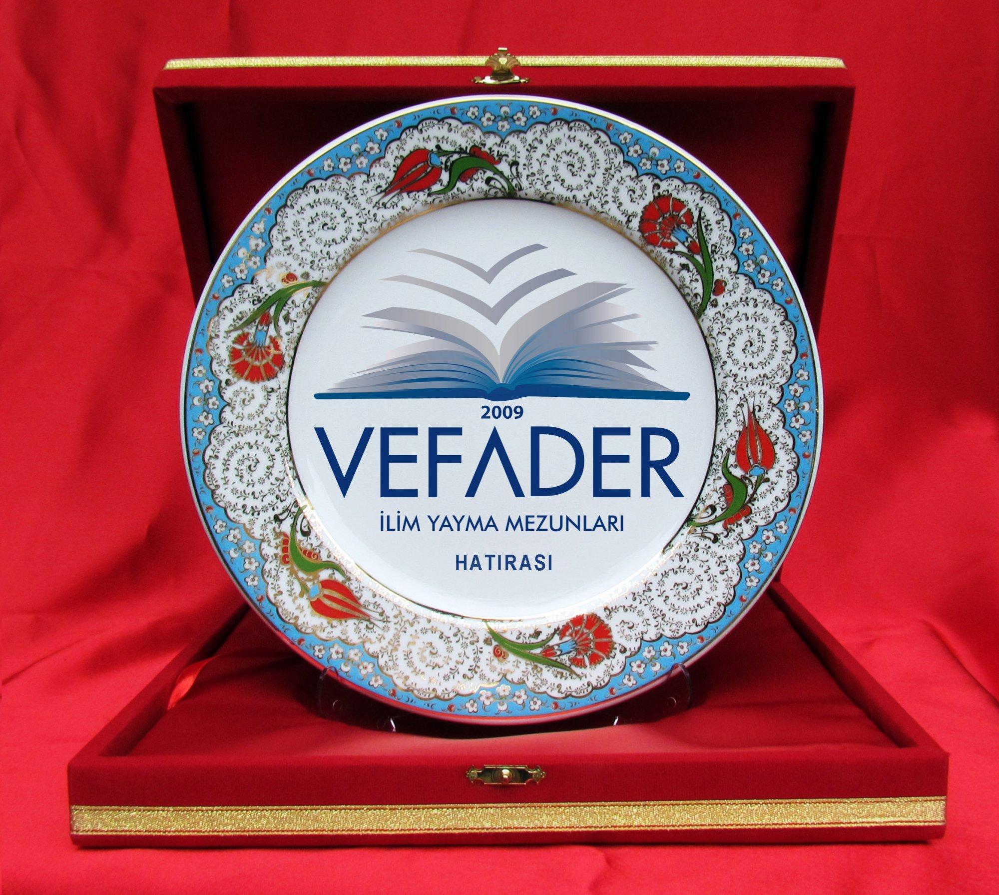 Kadife Kutuda Porselen Seramik  Plaket Tabaklar protokol hediyeleri