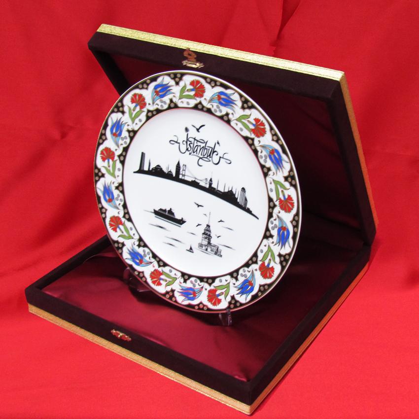 İstanbul Görselli Promosyon Kutulu Porselen Tabaklar