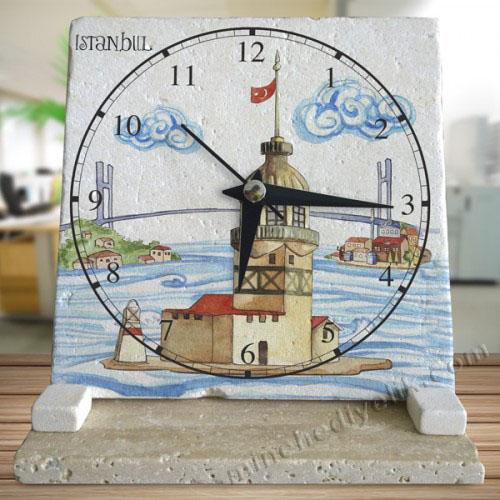 saf taş masa saati modelleri toptan imalat fiyatları İstanbul hatırası ofis hediyeleri