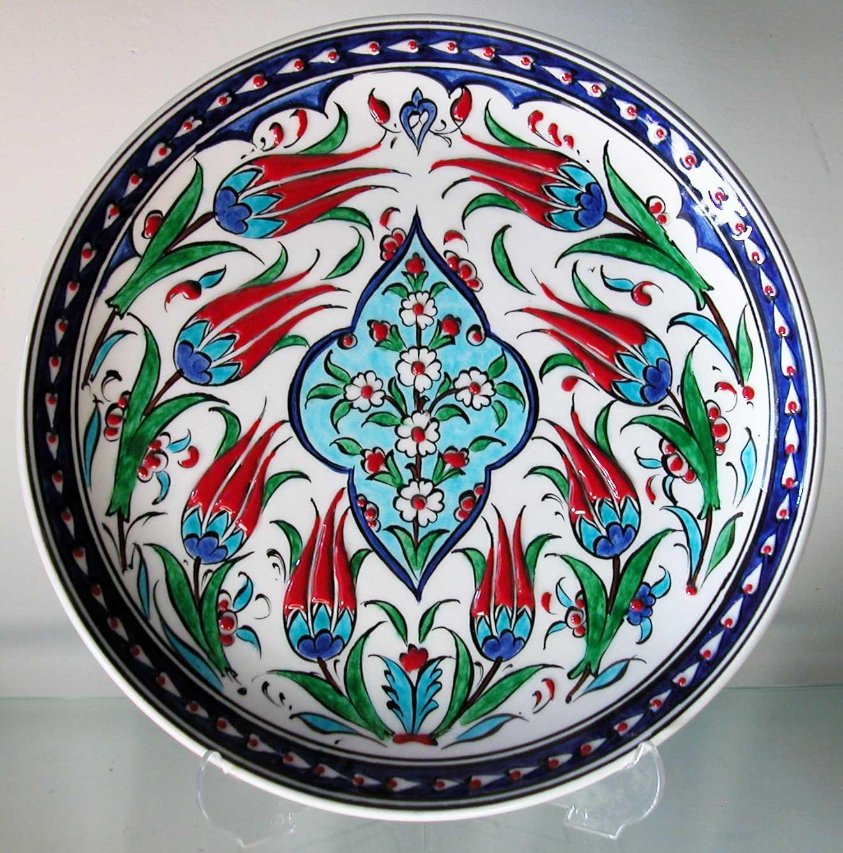 Lalezar Çini Deseni En güzel Osmanlı İznik  ve Kütahya Klasik Çini Desenleri Motifleri