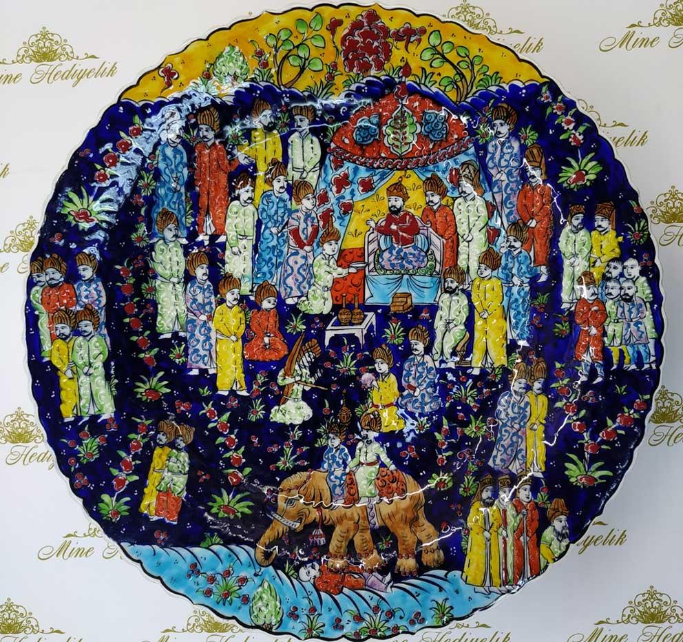 Osmanlı Minyatür Sanatı Çini Tabak Padişah Sosyal Hayatı Hakkında