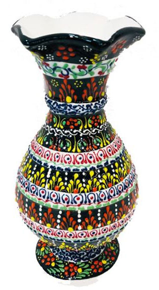 Dekoratif  Kurumsal Hediyelik Kutulu Hediyelik Çini  20cm Kabartma Vazo Modelleri