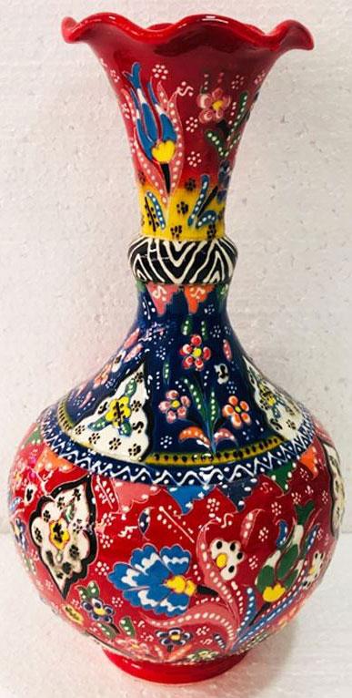 Dekoratif  Kurumsal Hediyelik Kutulu Hediyelik Çini  30cm Kabartma Vazo Modelleri