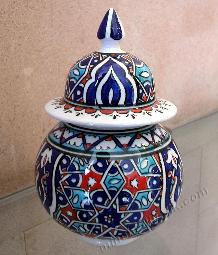 Selçuklu imparatorluğu çinileri nazilli işlemeli dekoratif ev, ofis süsleri hediyelik kavanozlar evaniler çini hediyelik eşyalarrn