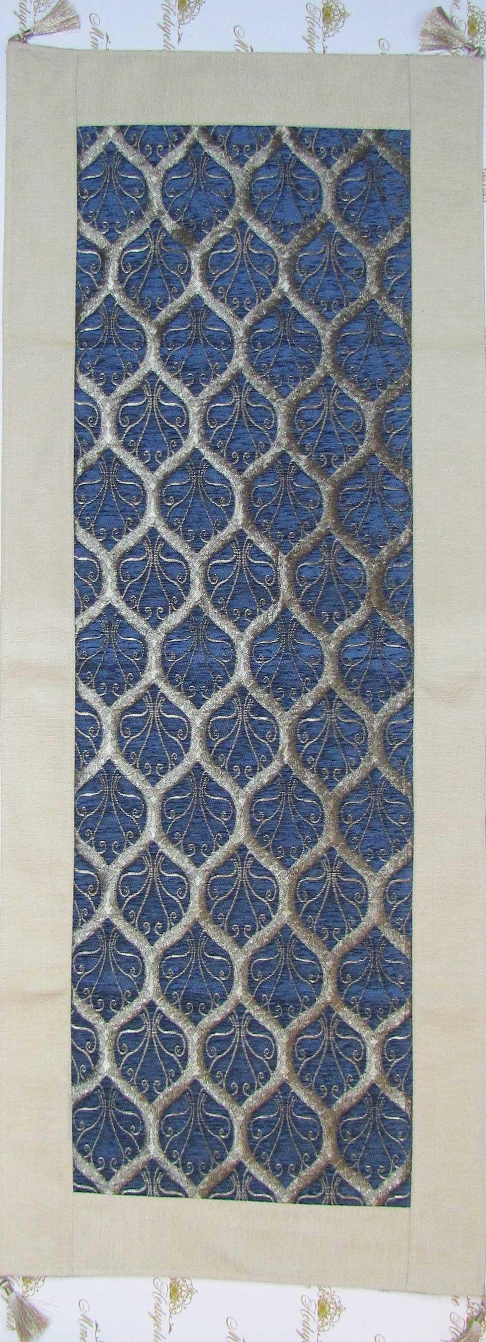 Tavuskuşu Mavi Desenli Rannırlar hediyelik geleneksel tekstil ürünleri
