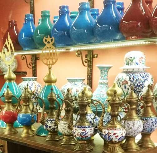 Otantik Kutulu Vip Kurumsal Çini Bakır Hediyelikler geleneksel çini sanatı örnekleri ve el yapımı bakır zanaatı hediyeler