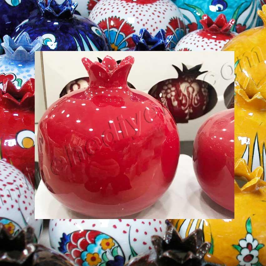 Kırmızı Seramik ve Çini Narlar Hediyelik Setler Kurumsal Promosyon Hediyelik tarihi ve kültürel Hediyelik Eşyalar geleneksel sanatsal hediyeler