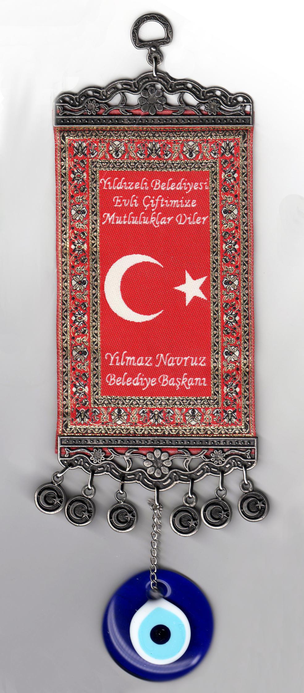 Dokuma Türk Bayraklı Ayyıldız  Minyatür Halılar