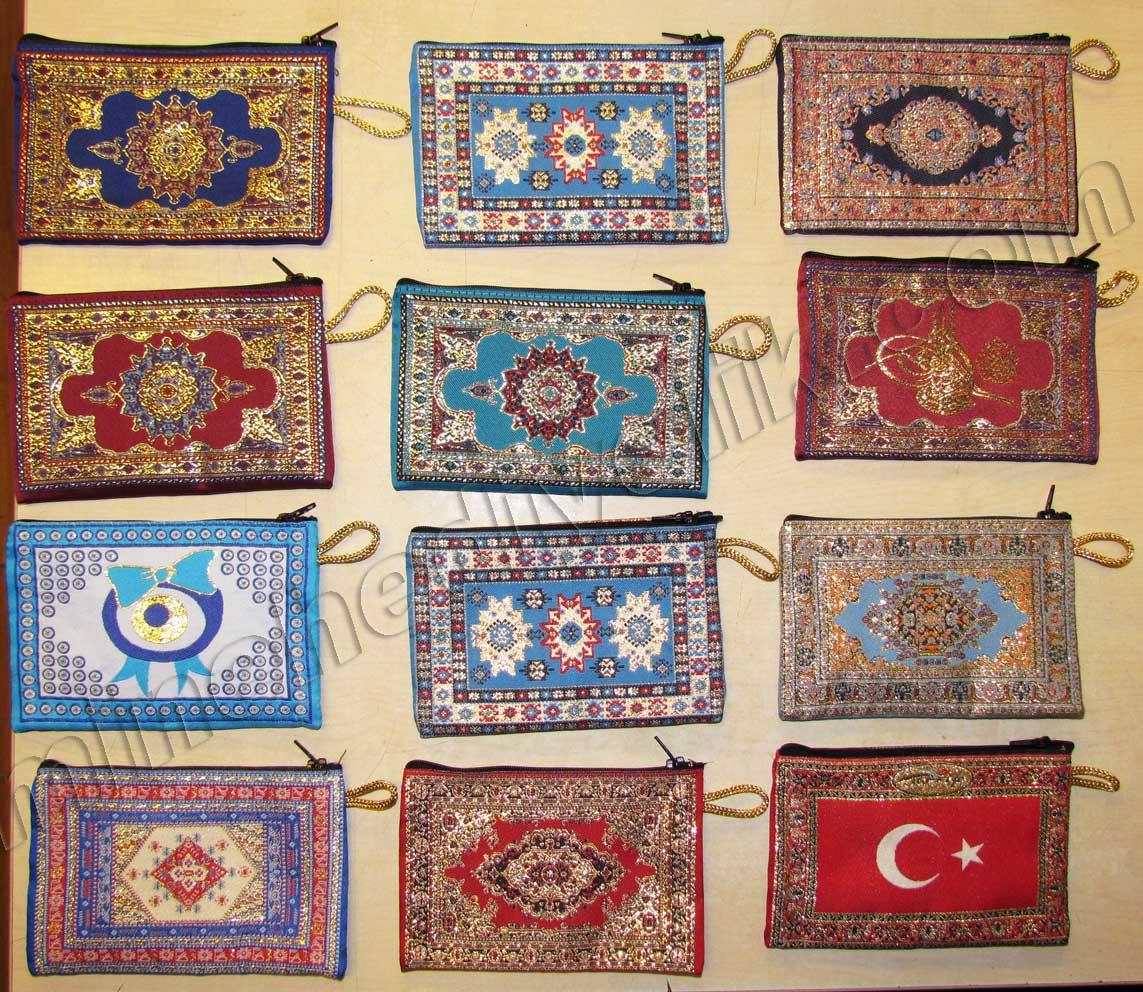 Hediyelik Halı Desenli Cüzdanlar Çantalar Geleneksel Anadolu Desenleri den yapılmış Kurumsal Hediyeler Geleneksel Hediyelik Eşyalar çok ucuz hediyelik eşyalar