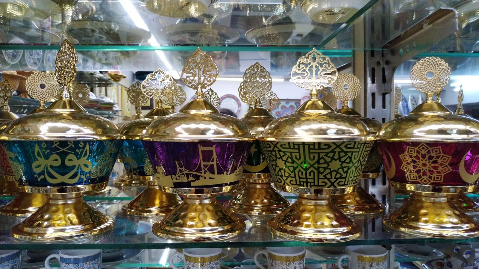 Türkiye İstanbul Hatırası Osmanlı Şekerlikler Lokumluklar