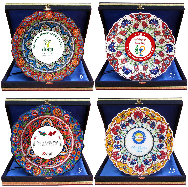 Kadife Kutulu Plaket Seramik Tabaklar Çeşitleri Modelleri Desenleri Çini Tabak fotoğraf baskı