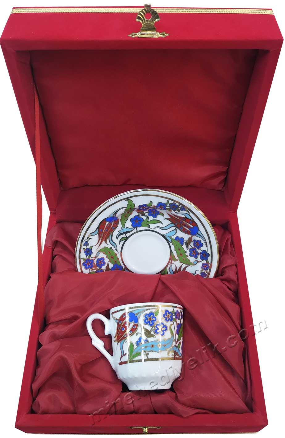 Tekli Kahve Fincan Takımları  Tek Kişilik Kutulu Kahve Setleri