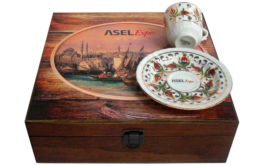Firmalara özel logo baskılı kahve fincan setleri